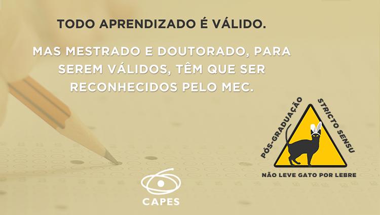 Capes promove campanha de prevenção a cursos irregulares